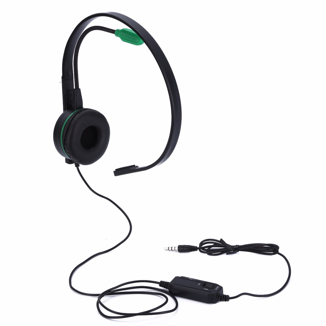 New Arrival 1pc Monaural Single-sided Pro Gaming Headset Black Earphone For XBOX ONE PS4 With Mic Mayitr