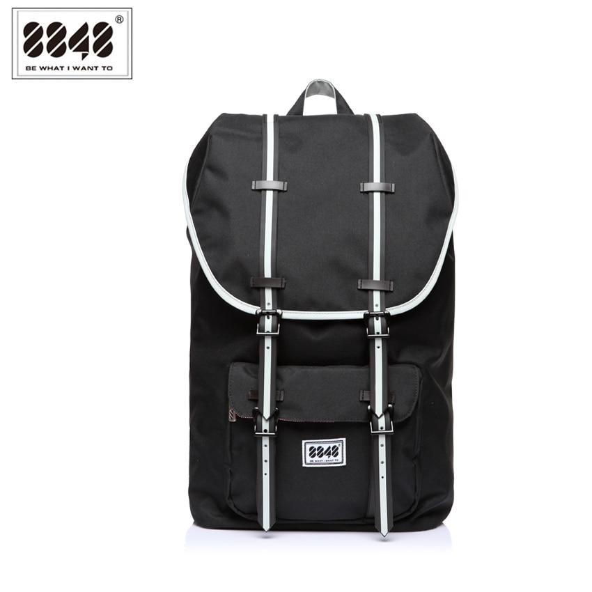 8848 Brand Black Men Backpacks Laptop Travel Bag Fashion Shoulder Soft Belt Solid Polyester Lining Material Popular S15005-9<br><br>Aliexpress