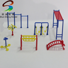 COLORS 3sets Park fitness suite 1/75 scale models toolings for architecture(China)
