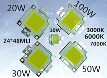 5pc /LOT LED 10W 20W 30W 50W 100W white/warm white cold whit hight power 24*40Mil  led bead chips hight power