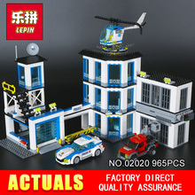 LEPIN 02020 965Pcs City Series The New Police Station Set Children Educational Building Blocks Bricks Toys Model for Gift 60141(China)
