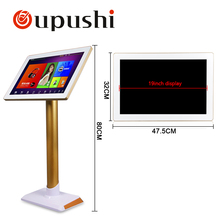 "Free shipping; High quality 19 "" 4T Hard disk Karaoke touch screen Home KTV bar, KTV, Home theatselect the song touch screen(China)"
