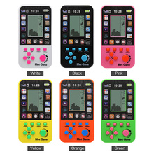 2pcs Free Shipping Kids Console For Children Toy Retro Tetris Game Console Built-in 23 Games Classic Intellectual Toys Console