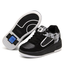 Safe and Comfortable Breathable New Children's Fashion Walking Shoes with Wheels Free Shipping
