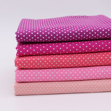 5PCS Pure Polka Dot cotton fabric DIY cloth sewing tilda fabrics patchwork cotton tissue home textile woven telas tecido(China)