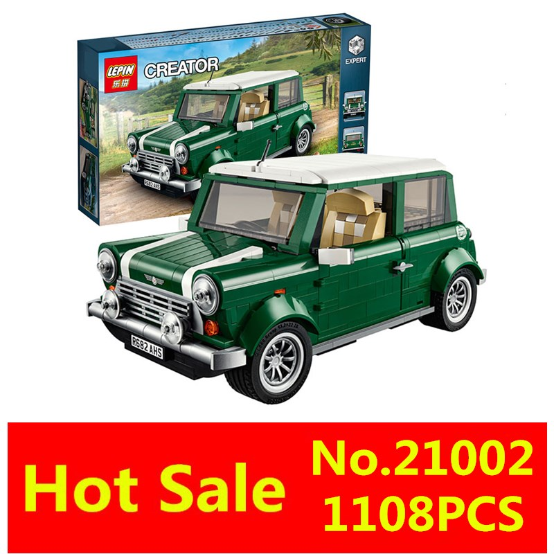 LEPIN 1108pcs 21002 technic series MINI Cooper Model Building Kits Blocks Bricks Toys Compatible With10242<br><br>Aliexpress