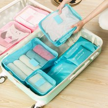 Underwear Socks Storage Bags 6Pcs/set Travel Clothes Packing Cube Luggage Bag Organizer For Six Sizes Solid Color Sets