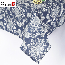 Retro Cotton Linen Tablecloth Flower Pattern Dustproof  Rectangular Table Covers Home Party Banquet High Quality Table Cloth