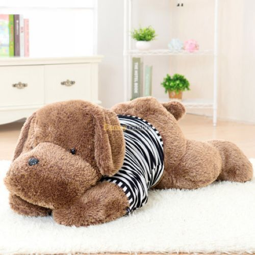 Fancytrader Fashion High Quality Dog Toy 51 130cm Big Giant Stuffed Plush Cute Dog with Sweater, Good Gift 2 Colors FT90549<br><br>Aliexpress