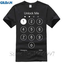 Free mobile phone unlock printed cotton casual T-shirt man shirt T Shits Printing Short Sleeve Casual O-Neck Cotton
