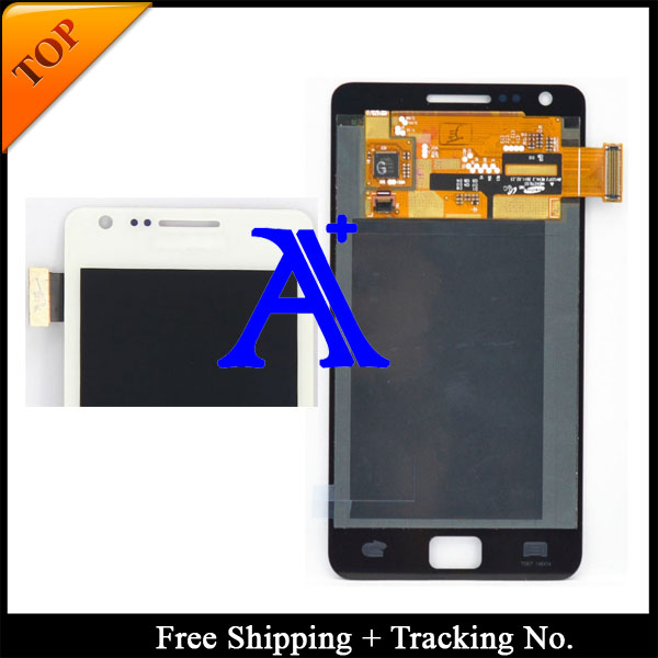 4.3 Free Shipping 100%  tested Original  For Samsung Galaxy S2 i9100  LCD   Digitizer Assembly  - Black/ White<br><br>Aliexpress