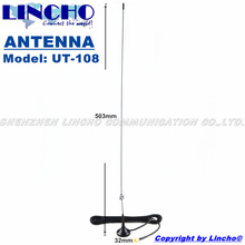 UT-108 antenna 144 430MHz sma male ham two way amateur radio uhf vhf magnetic base antenna