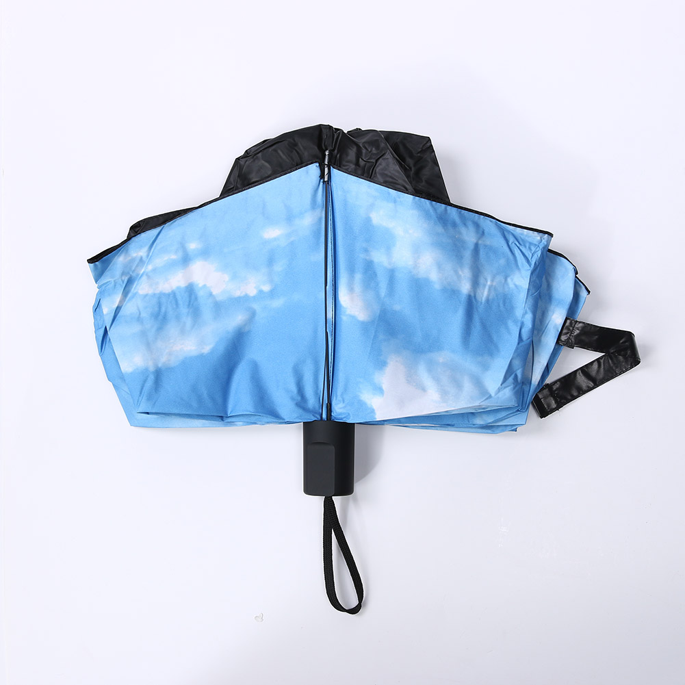b248b57234bd0 3D Blue Sky White Clouds Print Umbrella Women parasol Paraguas Men Rain  Umbrella Sunny Windproof Parapluie - us333