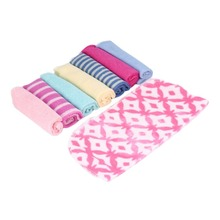 PREUP 5 Pcs Newborn Children Colorful Soft Baby Bath Towels Washcloth For Feeding Bathing Hot Selling(China)