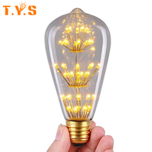 ST64 Squirrel Cage Bulb Retro Vintage E27 Led Edison Antique Warm Yellow 40W Incandescent Bombillas Lampada Led Home Lighting(China)
