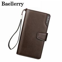 Baellerry Brand Long Wallet Men Artificial Leather Clutch Bag Fashion Cash Male Wallet For Credit Card Holder Coin Purse VK127(China)