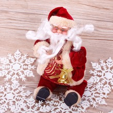 Hot Sale Christmas Santa Claus Dolls Christmas Gift Kids Toys Xmas Home DIY Party Decoration #253353(China)
