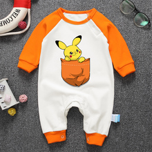 Baby clothes 2018 New arrive newborn bodysuits Cartoon Pikachu Print baby girl boy cotton infant clothing baby bodysuit clothes
