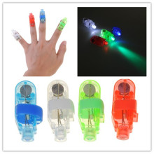 4 color 10pcs/lot christmas party supplies led finger light laser finger lamp lights for birthday concert event party decoration