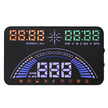 S7 5.5 inch High Definition Display Universal OBD2 Car HUD GPS Head Up Display Speed RPM Fuel Gauge OBD &GPS HUD system Monitor(China)