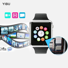YIBU Curved Screen Bluetooth smart watch Clock Smartwatch for Android phone with 3 colors support GPS SIM relogio smart watches(China)
