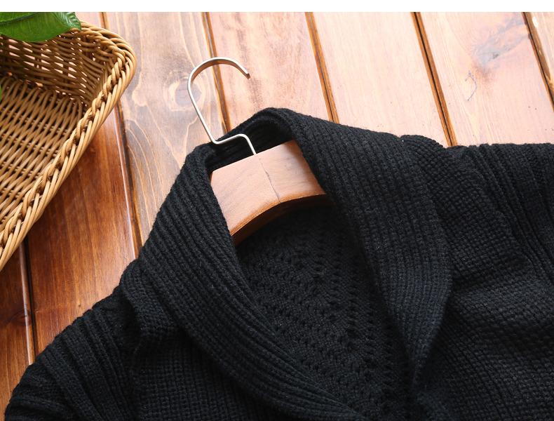 Winter Men Cardigan Coat Thicken Loose Fit Warm Turtleneck Sweater Men Autumn Knited Male Sweatercoat Black Brand Muls M-4XL-09