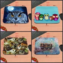 Top Selling Customized Mouse Pad Two Owls Drawing Artwork Beautiful Decor Computer Notebook Logo Printing Mouse Pad Rubber Mat