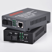 2Pcs 10/100Mbps 1Port and 4Ports Ethernet to Fiber Media Converters for IP cameras, Working distance 25Km, 1Pair(China)