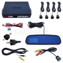 Universal SPY Car Parking Sensor System With 3.0 Inch TFT Display Rearview Mirror And 4 Sensors In Stock(China)