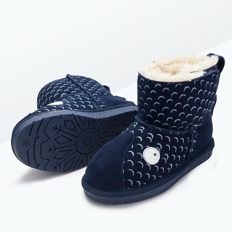 T.S. kids boot whale Lovely Children Genuine Cow Leather Rubber Sole Soft  Ankle Snow Boots Kids Girls Boots Shoes  <br><br>Aliexpress