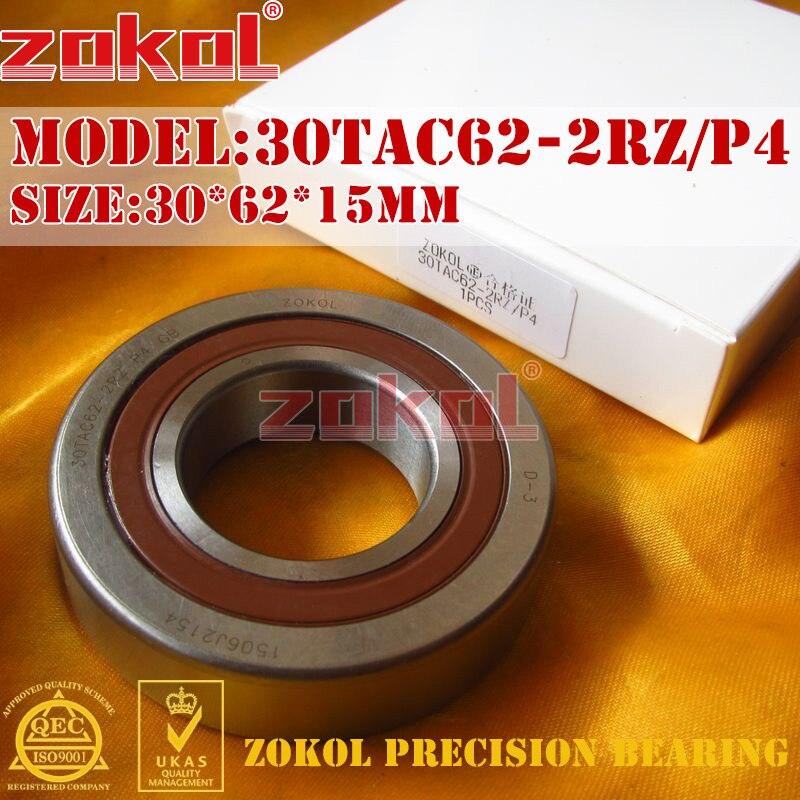 ZOKOL bearing 30TAC62 2RZ P4 Universal matching 30TAC62BSUC10PN7B(P4) Ball Screw Support Ball Bearing 30*62*15mm<br>