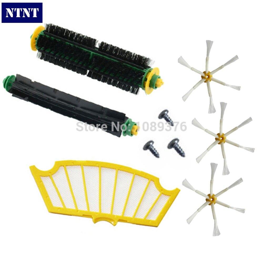 NTNT Bristle &amp; Flexible Beater Brush Armed Filter kit for iRobot Roomba 500 Series Vacuum Cleaner 520 530 540 550 560<br><br>Aliexpress