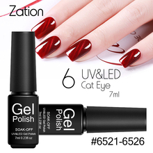Zation 3D Red Magnet Cat Eyes UV Gel Polish 7ml Long Lasting Lucky Gel Varnish Art Soak Off LED UV Lamp Nail Gel Polish(China)