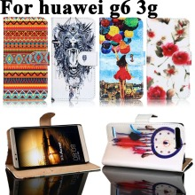 PU Leather Phone Cover Case For Huawei Ascend G6 3G P6 Mini U00 U10 Wallet Flip Painted Housing Bag For Huawei Ascend G6 3G Case