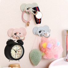 Cute Elephant wall sticky hooks kitchen bathroom hanger Children Clothes Hook Wall Wall Mounted Hanger Rack Bathroom Accessory