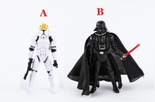 1pc 10cm Star Wars Darth Vader Stormtrooper Model Revenge Of The Sith Action Figure kids Boy Toy Gift Black Knight Clone Trooper