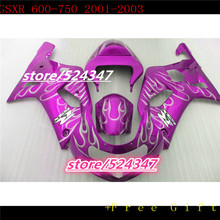 Market hot sales manufacturers GSXR600 750 01 02 03 GSXR600 750 smooth mei pink motorcycle fairing of the silver flame-Hey(China)