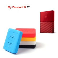 Shake-proof Drop-resistance Elastic Silicon Rubber Case For WD My Passport 1t 2T