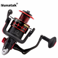 Nunatak Spinning Fishing Reel  NAGA2000 3000 4000 5000  5.2:1/4.7:1 11BB 7.5KG Carbon Fiber Drag Spinning Wheel +1pc Spare Spool