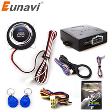 Eunavi Smart RFID Car Alarm System Push Engine Start Stop Button Transponder Immobilizer Keyless Go Fits for 12V Cars Carsmate(China)
