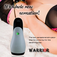 YouCups Warrior Sleeve - White, 12 Modes Vibrating Electric Male Vibrating Masturbator,Tight Wave Beads Massager, Man Sex Toys
