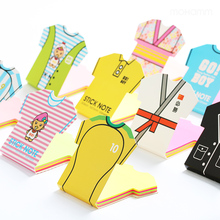 1 Pcs Cute Kawaii Japanese kimono Soccer jersey Sticky Note Office School Supply Post It Memo Pad Stationery