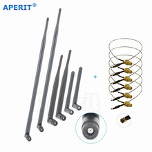 Aperit 2 2dBi + 2 6dBi + 2 9dBi RP-SMA Antennas + 6 U.fl cables for Netgear Routers WNR834B(China)
