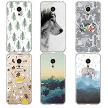 Cupcake Soft Clear TPU Phone Case meilan MX6 pro6 U20 U10 A5 M5 M5S E E2 Hear Fox Printed Cute Elephant Cover Free Shipping
