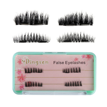 1 Box Double Magnet Resuable False Eyelashes 5 Styles No Messy False Eyelashes New Design Extension Tools(China)