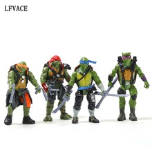 4 Pcs/ Pack Ninja Leonardo Raphael Michelangelo Donatello Action Toy Figures