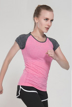 Dry Fit Workout Running Sports Jerseys For Fitness T-shirt Stretch Yoga Tops Women Sports Shirt Gym Clothing  Compression Tees