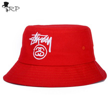 2017 Fashion 100% Cotton Unisex Bucket Hat Brand New Summer Outdoor Fishing Caps for Men and Women Flat Sun Visor Hat