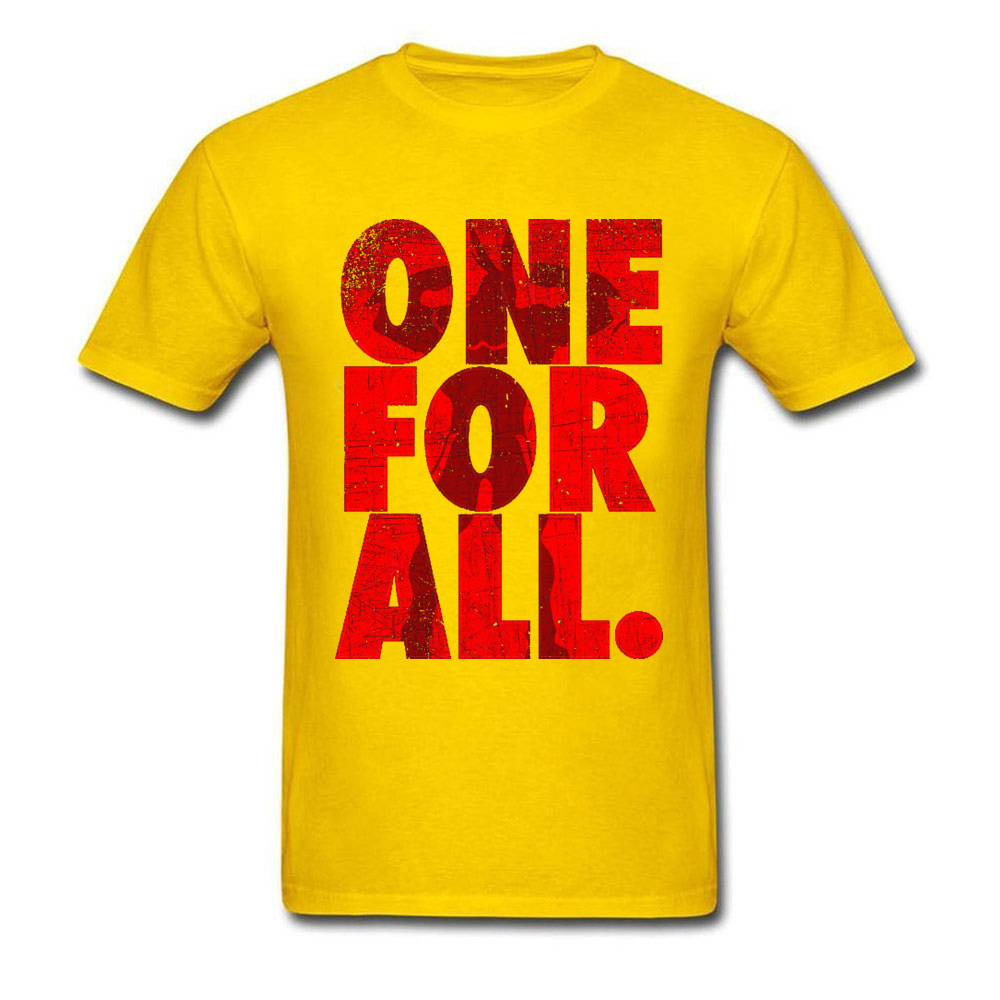 Mightier-One-For-All-My-Hero-Academia T-Shirt for Men 3D Printed Labor Day Tops Shirt Newest Tops Shirts Crewneck 100% Cotton Mightier-One-For-All-My-Hero-Academia yellow