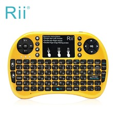 LED Backlit Russian keyboard Rii mini i8+ 2.4G Wireless Gaming keyboard with Touchpad mouse for PC HTPC Android/Smart TV Box(China)
